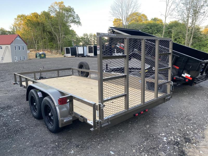 2020 Top Hat Trailers 7X14 BEIGE HD Utility Trailer