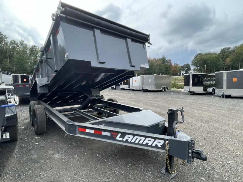 2021 Lamar Trailers 7x14 Loaded Extra Height Sides Dump Trailer