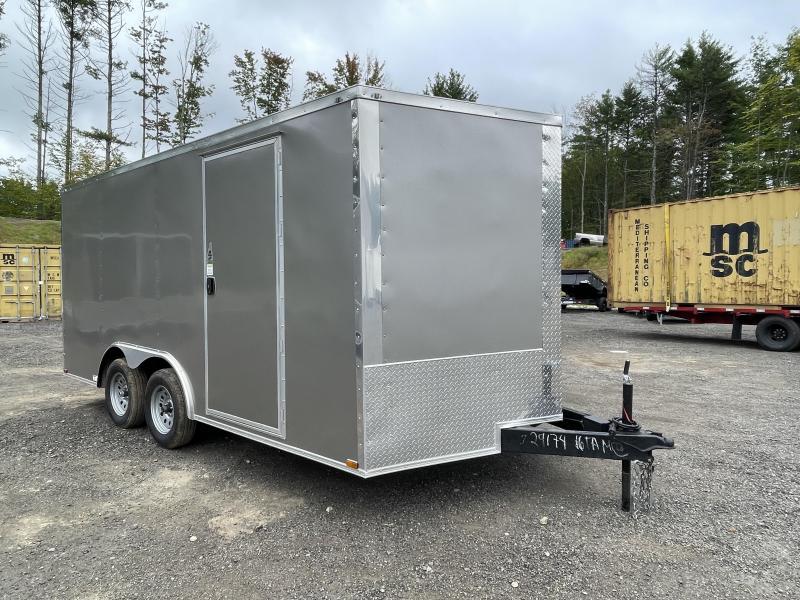 2022 Quality Cargo 8.5x16 Pewter Enclosed Cargo Trailer