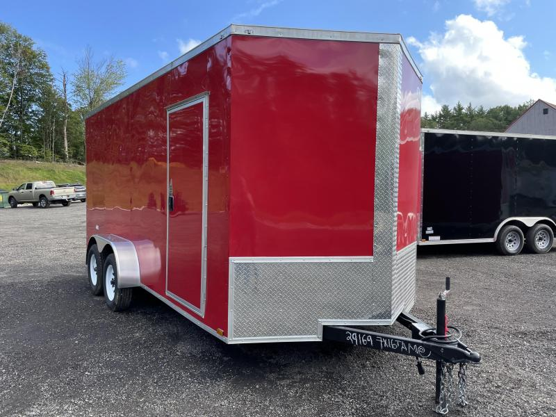 """2022 Quality Cargo 7x16 9"""" Extra Height DRINGS Enclosed Cargo Trailer"""