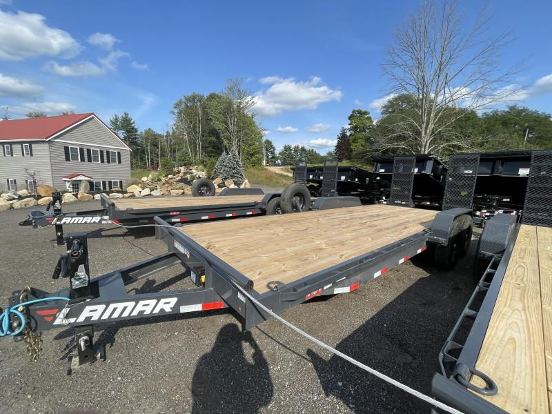 2021 Lamar Trailers 7x22 14K Heavy Duty Cement Gray Equipment Trailer
