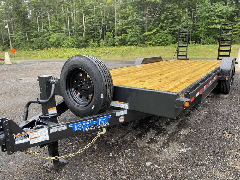2020 Top Hat Trailers 7X22 175000K OIL BATH AXLES Equipment Trailer
