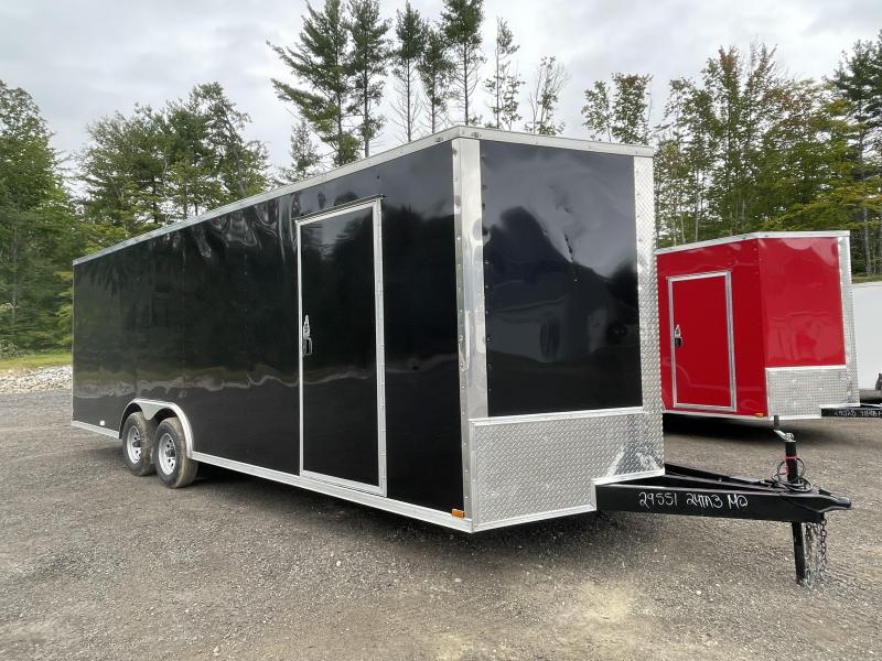 2022 Quality Cargo 8.5x24 Extended Triple Tube Tongue Enclosed Cargo Trailer