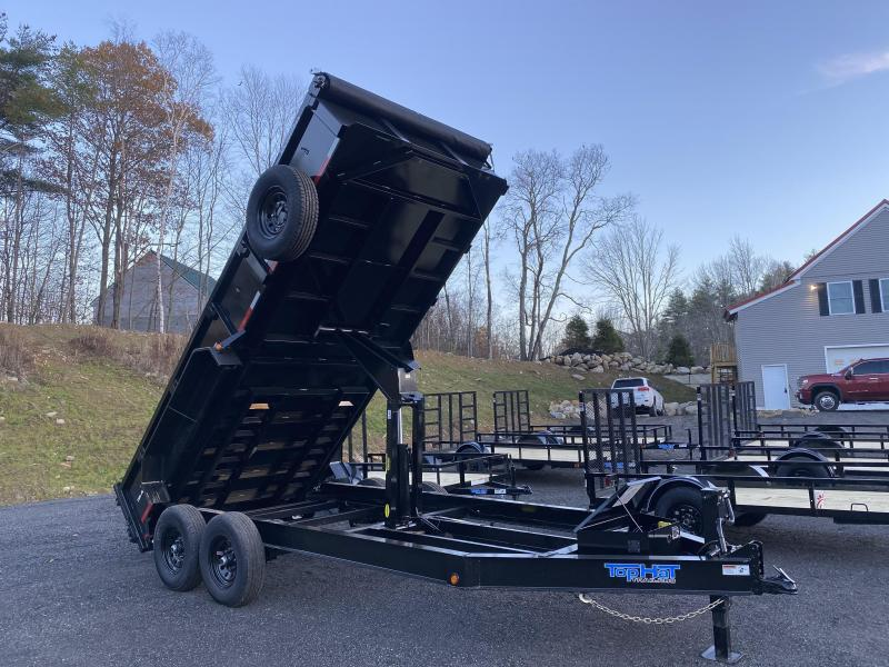 2021 Top Hat Trailers 7X16 14K GVW TARP KIT LOADED Dump Trailer