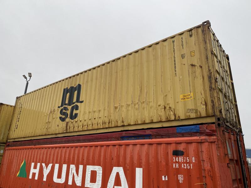 "8x40HC 9' 6"" tall shipping container DELIVERED"