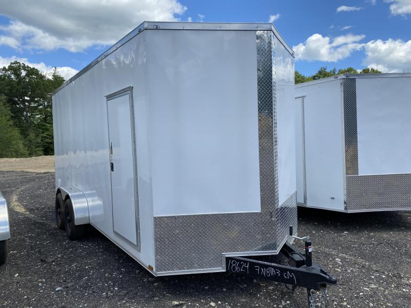 2020 Quality Cargo 7x18 EXTRA HEIGHT BARN DOORS Enclosed Cargo Trailer