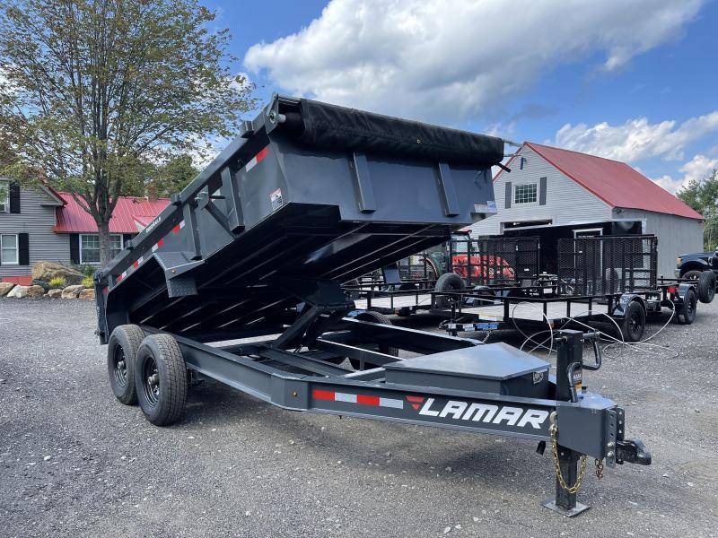 2021 Lamar Trailers 7x14 14k Cement Gray LOADED Dump Trailer
