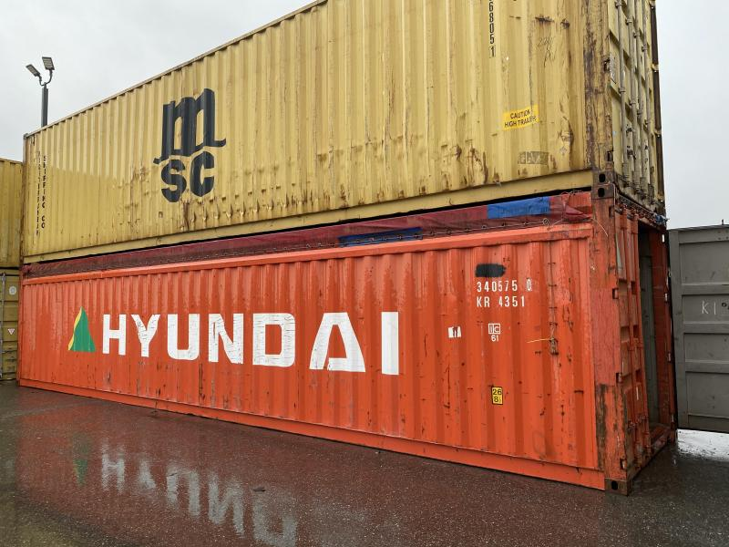 8x8.5 40' rag top shipping container Steel