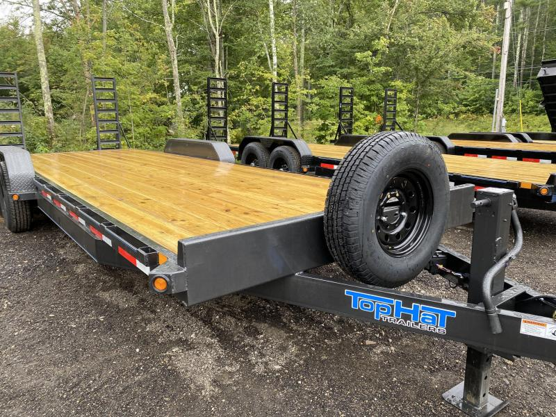 2020 Top Hat Trailers 7X24 14K CHARCOAL Equipment Trailer