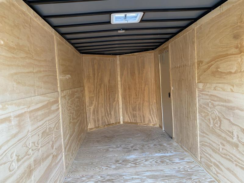 2021 Freedom Trailers 7X16 EXTRA HEIGHT BLACKOUT Enclosed Cargo Trailer