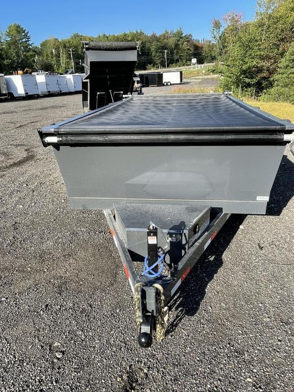 2021 Lamar Trailers 6.5x12 9990K Cement Gray Loaded Dump Trailer