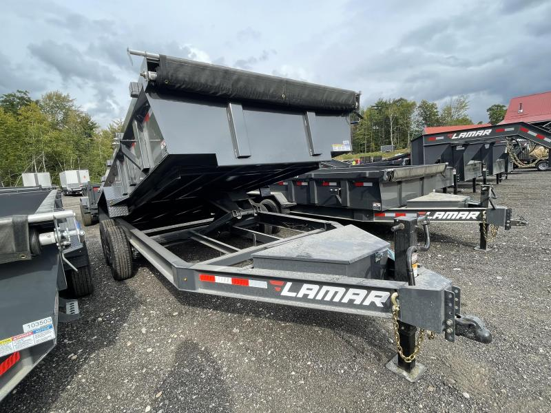 2021 Lamar Trailers 7X16 Loaded Cement Gray Dump Trailer