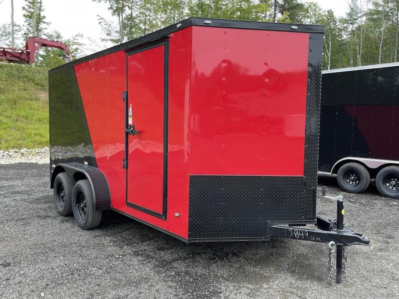 2022 Freedom Trailers 7x14 Two Tone Blackout Enclosed Cargo Trailer
