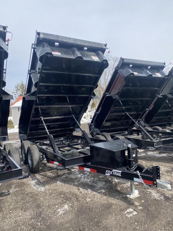 2021 Fox Trail 6x12 10K HEAVY DUTY TARP & RAMPS Dump Trailer