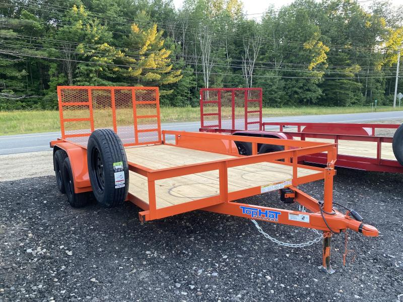 2020 Top Hat Trailers 7X14 HD ORANGE Utility Trailer