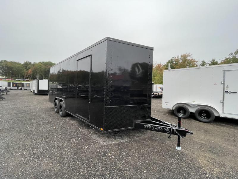 """2022 Quality Cargo 8.5x20 Black Out 60"""" Triple Tube Tongue Enclosed Cargo Trailer"""