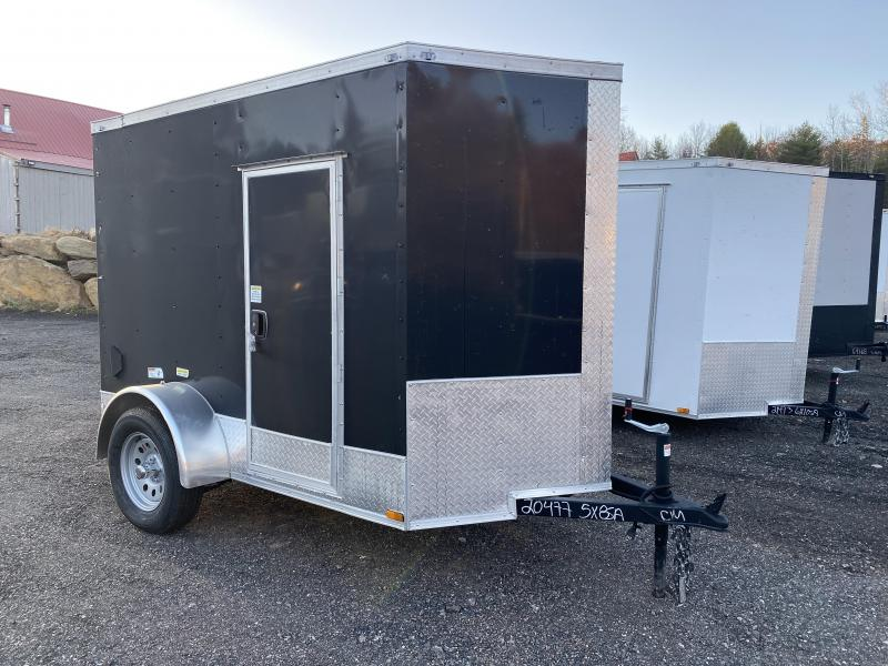2021 Quality Cargo 5X8 12INCHES EXTRA HEIGHT RAMP SIDE DOOR Enclosed Cargo Trailer