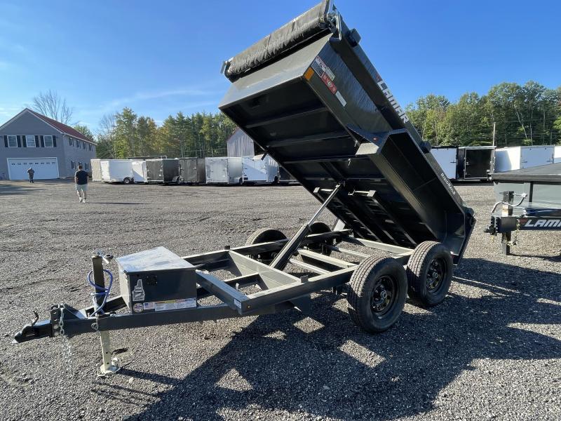 2021 Lamar Trailers 5x10 7K Loaded Cement Gray Dump Trailer