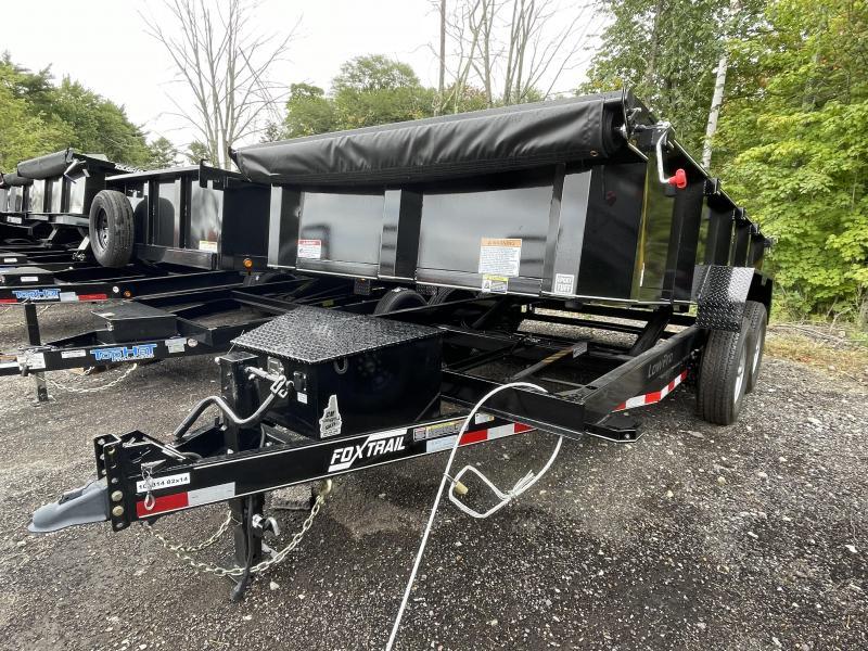 2021 Fox Trail 7x14 Dual Cylinder Tarp Kit Dump Trailer