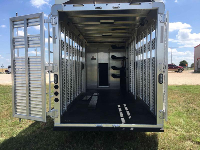 2020 Lakota Stock Combo LQ with a 9 ft Straight Wall Livestock Trailer
