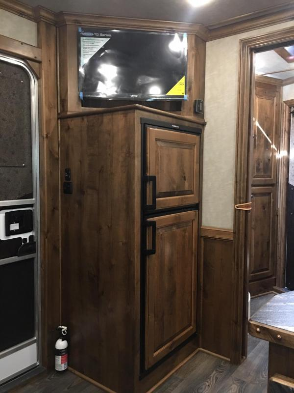 "2021 Platinum Coach 3 Horse with a 10'8"" Short Wall Horse Trailer"