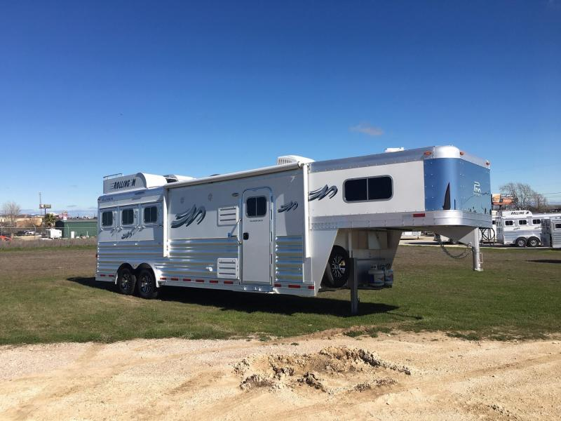"2020 Platinum Coach 3 Horse with a 10'8"" Short Wall Horse Trailer"