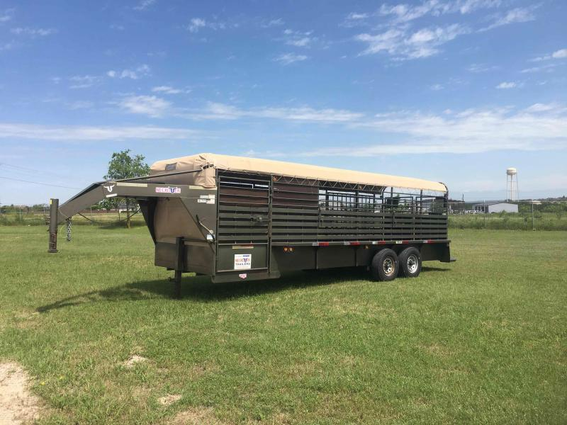 2018 Neckover Trailers 24 ft Tarp Top Livestock Trailer