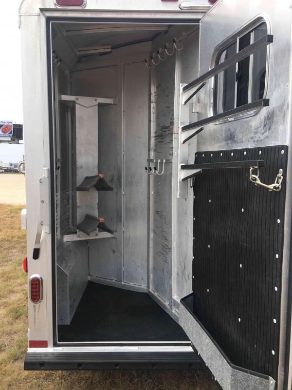2016 Platinum Coach 2 Horse with an 8 ft Short Wall Horse Trailer