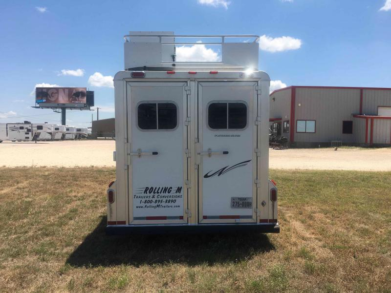 2013 Platinum Coach 3 Horse with a 8 ft Short Wall Horse Trailer