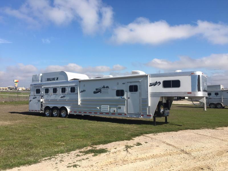 2021 Platinum Coach 5 Horse Side Load with 13.8 ft SW and Slide Horse Trailer