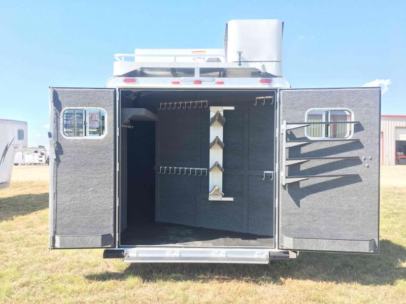 2021 Platinum Coach 4 Horse with a 12.8 ft Side Load Short Wall Horse Trailer