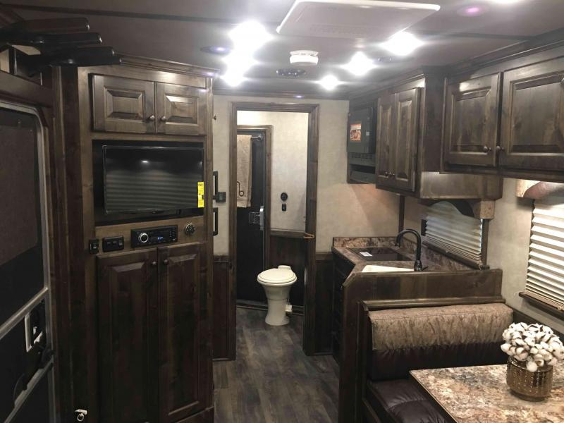2020 Platinum Coach 4 Horse with a 12.8 ft Side Load Short Wall Horse Trailer