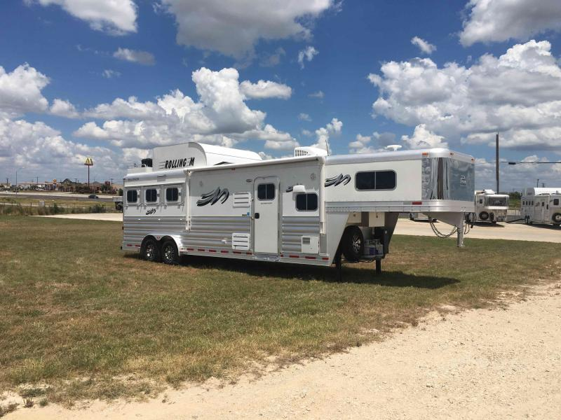 "2021 Platinum Coach 3 Horse 11'8"" Short Wall with a Slide Horse Trailer"