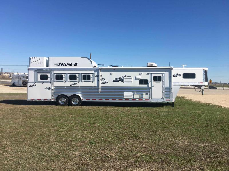 2021 Platinum Coach 4 Horse Side Load 13.8 SW with a Slide Horse Trailer