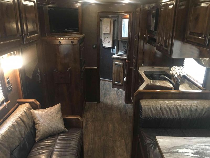 2017 Platinum Coach 3 Horse with a 15 ft Short Wall Horse Trailer