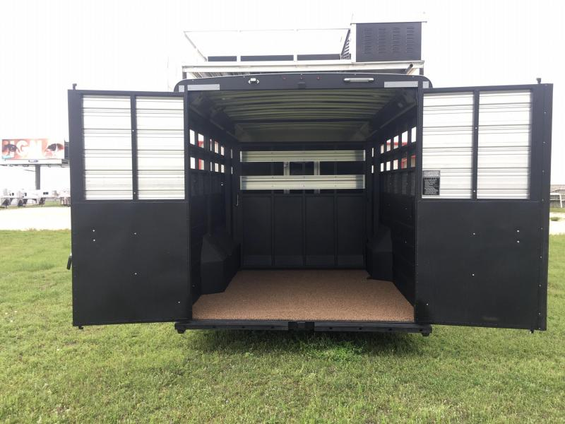 2020 Logan Coach Stock Combo with a 10 ft Short Wall and Slide Livestock Trailer