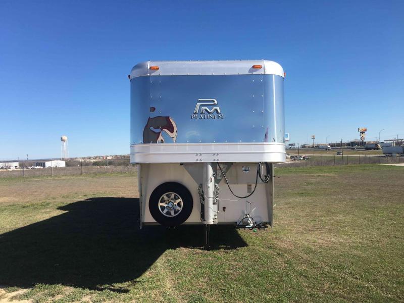 2021 Platinum Coach 3 Horse 10.8 ft Short Wall Side Load Horse Trailer