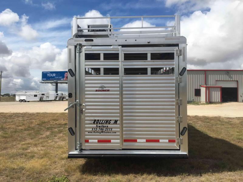 2020 Sooner Ranch 8032 Stock Combo 10.4 ft Short Wall Livestock Trailer