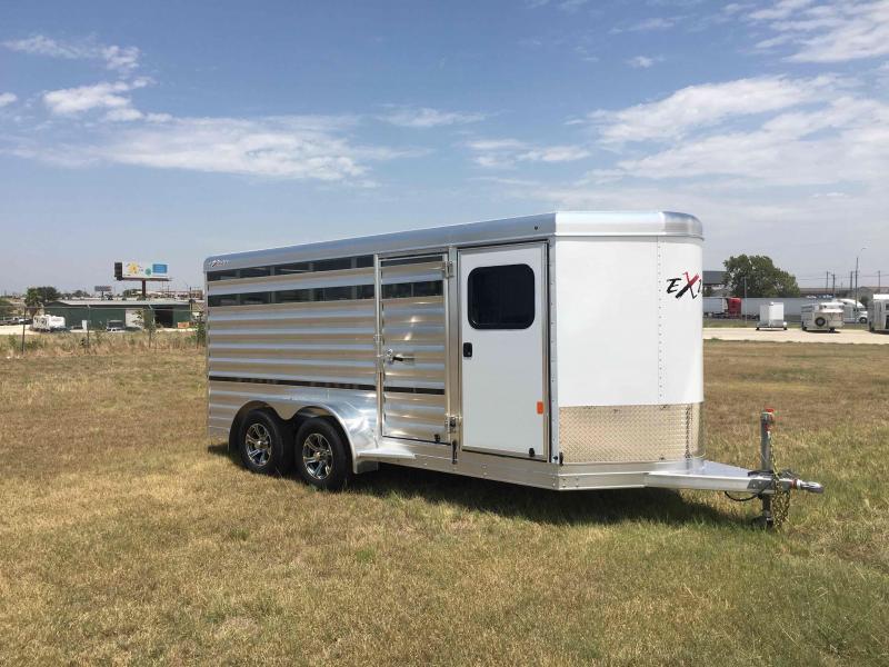 2021 Exiss Trailers Mini Combo 615A Livestock Trailer
