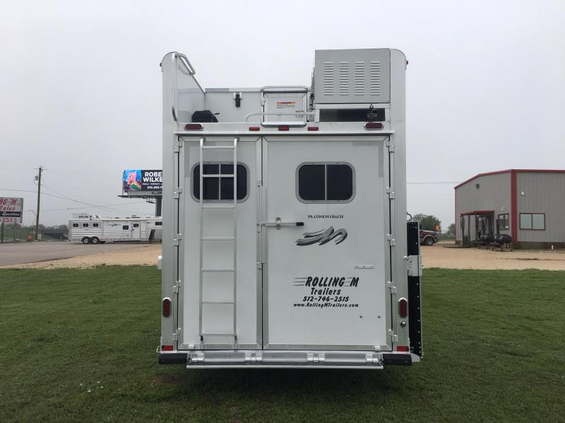 2021 Platinum Coach 4 Horse with a 17.2 ft Short Wall with a slide Horse Trailer