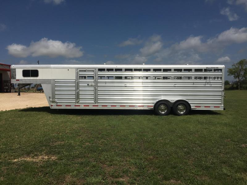 2020 Platinum Coach 28 ft by 8 ft Wide Stock Combo Livestock Trailer