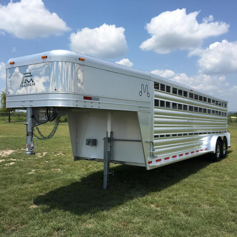 2022 Platinum Coach 24 ft Livestock Trailer