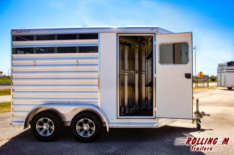2022 Exiss Trailers 2 Horse CXF Bumper Pull Horse Trailer