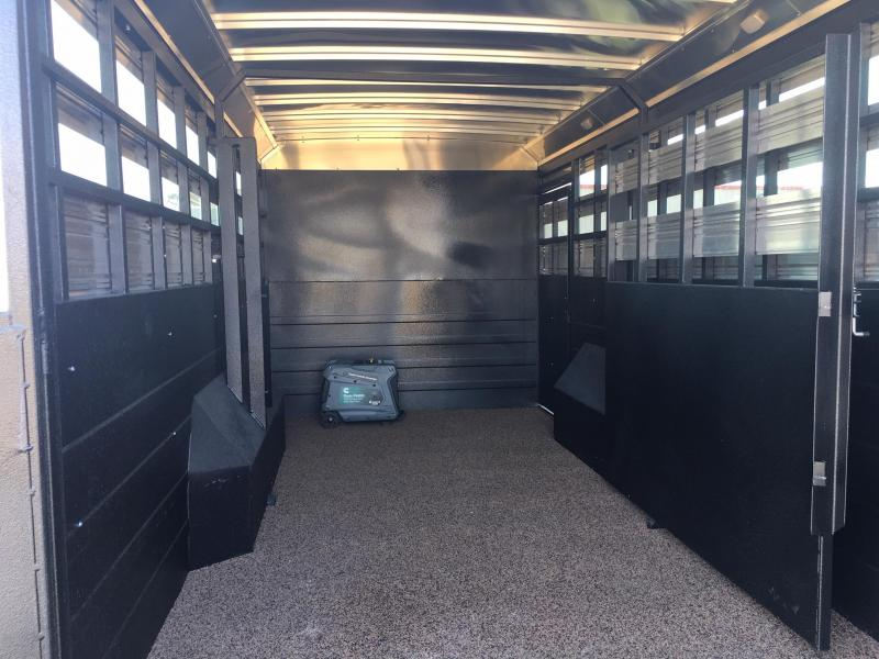2020 Logan Coach 10 ft Short Wall with 16 ft Stock Area Livestock Trailer