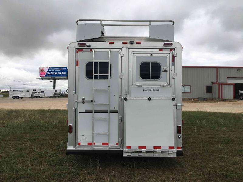 2008 Platinum Coach 4 Horse with a 15 ft Short Wall Horse Trailer