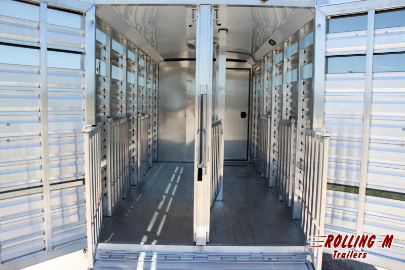 2022 Exiss Trailers EXHIBITOR 716A BP LOW PRO TRAILERS Livestock Trailer