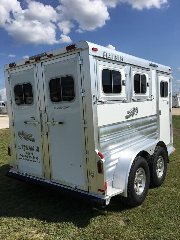 2021 Platinum Coach 2 Horse BP Horse Trailer