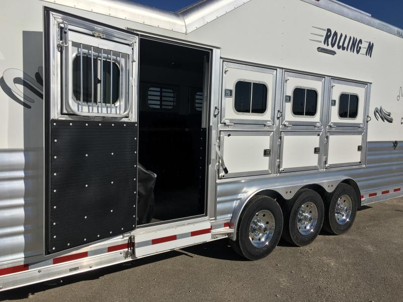2022 Platinum Coach 4 horse 15 ft 8 short wall with slide Horse Trailer