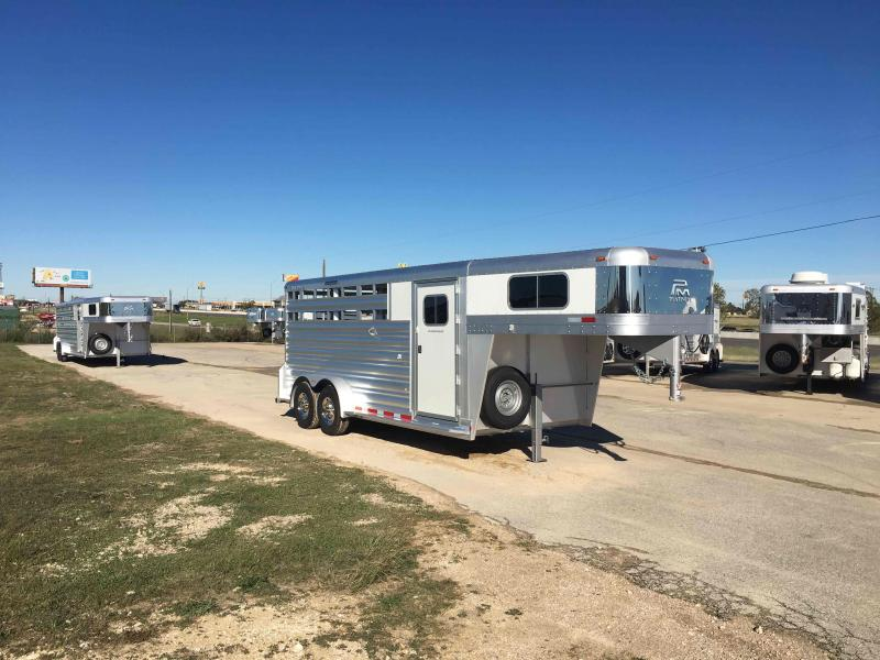 2022 Platinum Coach 18 Ft Stock Combo Slant Wall Livestock Trailer