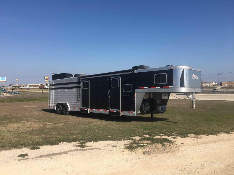 2014 Exiss Trailers STC 8030 with Pen System Livestock Trailer